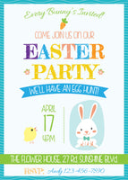 Easter Party Easter Egg Hunt Easter Brunch Invitation Invite Personalized Customized DIY Party Printable - NYC PARTY PRINTABLES