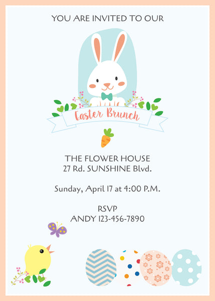 Easter Party Easter Egg Hunt Easter Brunch Invitation - NYC PARTY PRINTABLES