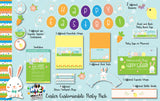 12 Piece Easter Party Egg Hunt Personalized Pack with Invitation and Photo Booth Props - NYC PARTY PRINTABLES