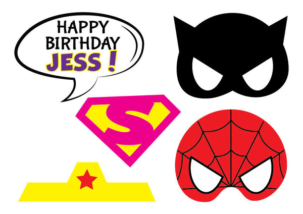 photo about Free Printable Superhero Photo Booth Props named Superhero Image Booth Props