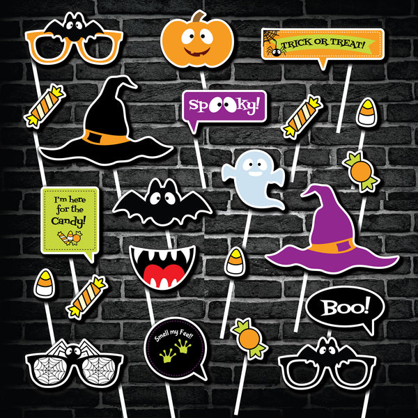 Halloween Party Photo Booth Props Printable  INSTANT DOWNLOAD