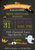 Spooky Halloween Chalkboard Invitation - NYC PARTY PRINTABLES