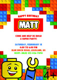 LEGO BIRTHDAY PARTY INVITATION - NYC PARTY PRINTABLES