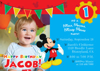 Mickey Mouse 1st Birthday Party Pack Printable Set