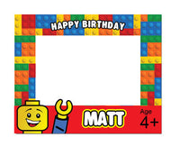 Lego Photo Booth Frame Printable - NYC PARTY PRINTABLES