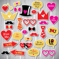 Valentine's Photo Booth Props-Instant Download - NYC PARTY PRINTABLES