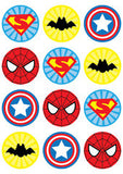 Superhero Unisex Birthday Party Pack complete with Invitation - NYC PARTY PRINTABLES