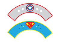 Superhero Unisex Birthday Party Pack complete with Invitation