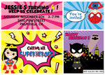 Superhero Birthday Party Invitation - NYC PARTY PRINTABLES
