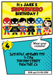 Superhero Birthday Party Invitation Unisex - NYC PARTY PRINTABLES