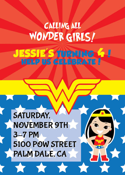 Tagged Wonder Woman Party Invite NYC PARTY PRINTABLES