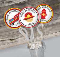 Firefighter Fire Truck Birthday Party Theme Pack - NYC PARTY PRINTABLES