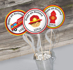 Firefighter Fire Truck Birthday Party Theme Pack