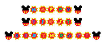 Mickey Mouse Banner,  Mickey Mouse, Happy First Birthday Banner, Instant Download - NYC PARTY PRINTABLES