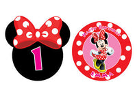 Minnie Mouse Birthday, Minnie Mouse Party Pack with Photo Booth Props, Backdrop and Photo Booth Frame - NYC PARTY PRINTABLES