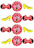 Minnie Mouse Birthday, Minnie Mouse Party Pack with Photo Booth Props, Backdrop and Photo Booth Frame