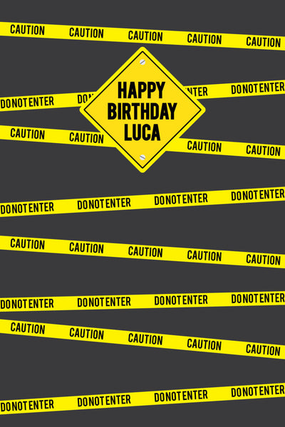 Construction Backdrop, Photo Booth Backdrop, Construction Birthday, PERSONALIZED Photo Booth, Construction Party, Birthday Party Backdrop - NYC PARTY PRINTABLES
