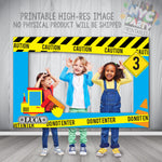Construction Party Photo Booth Frame, Printable PhotoBooth Frame, Construction Birthday Party