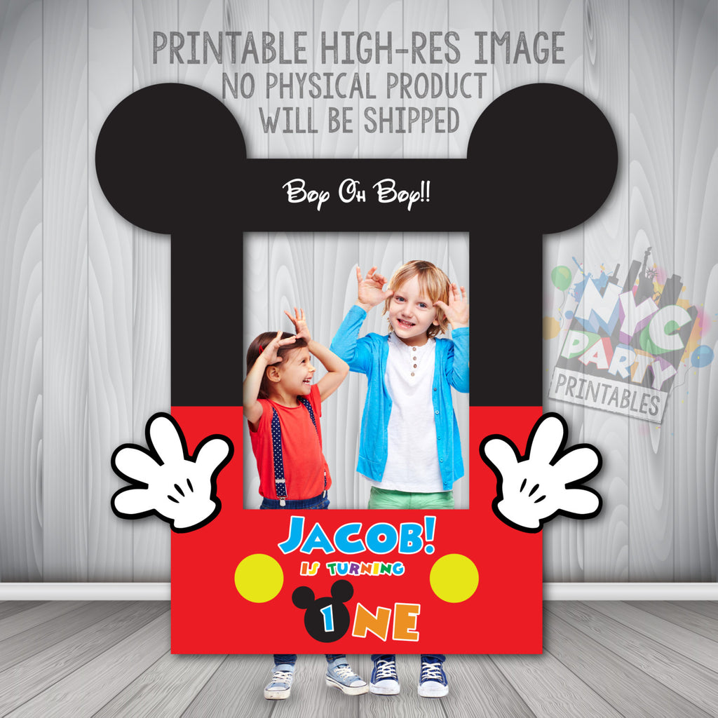 Mickey Mouse Photo Booth Frame,  Printable Mickey Mouse Photo Booth Frame, Mickey Mouse Photo Booth Digital File