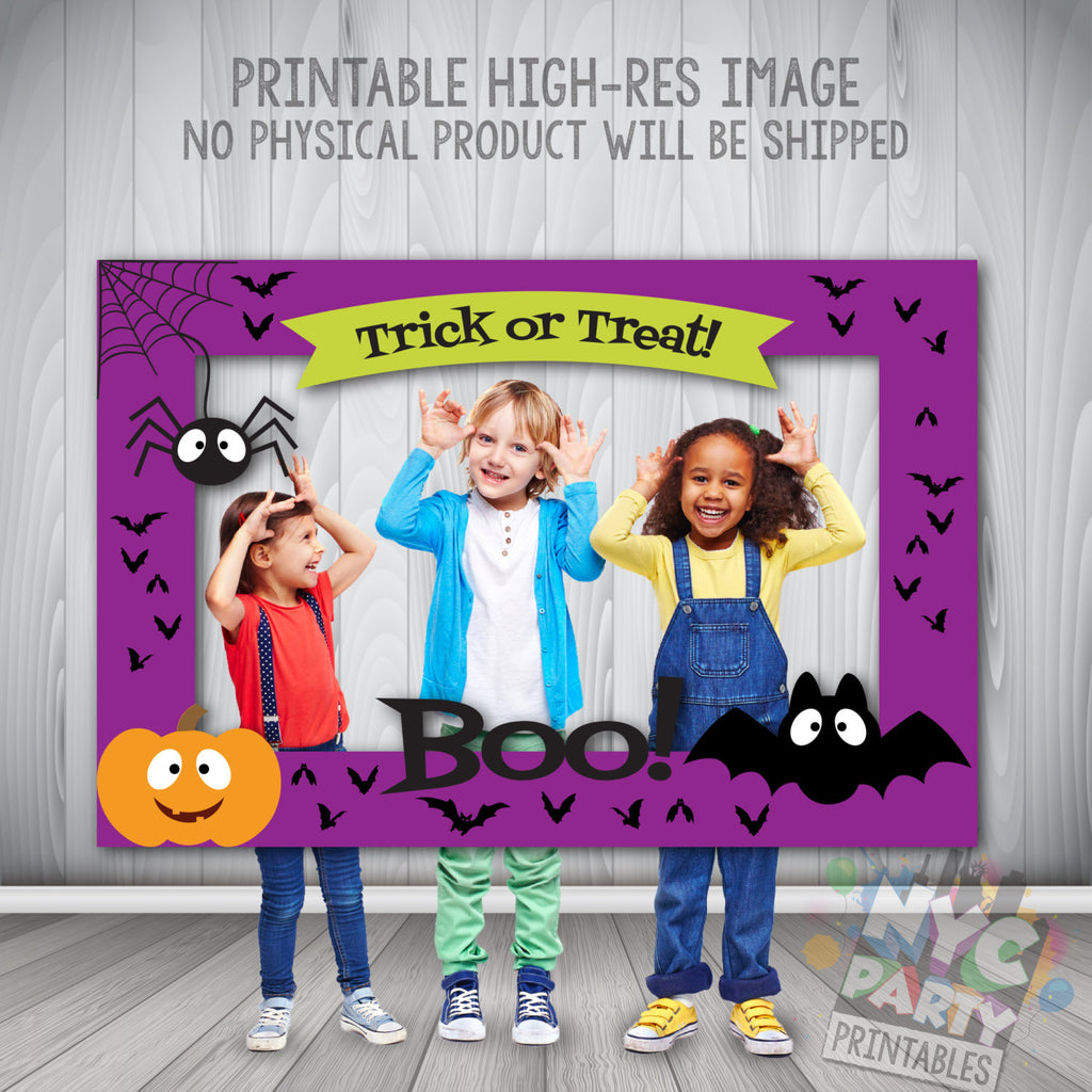 Halloween Photo Booth Frame, Halloween Photo Frame, Halloween Party, Digital Download