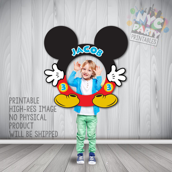 Mickey Photo Booth Frame, Mickey Mouse, Circular Mickey Mouse Photo Booth Frame, Photo Booth Frame, Mickey Birthday