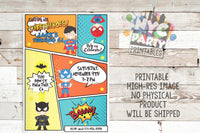 Superhero Birthday Party Invitation, Superhero Birthday Invite, Unisex Superhero Party, Unisex Superhero Birthday