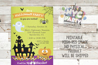 Halloween Invitation, Halloween Party Invite, Printable Party Invitation,