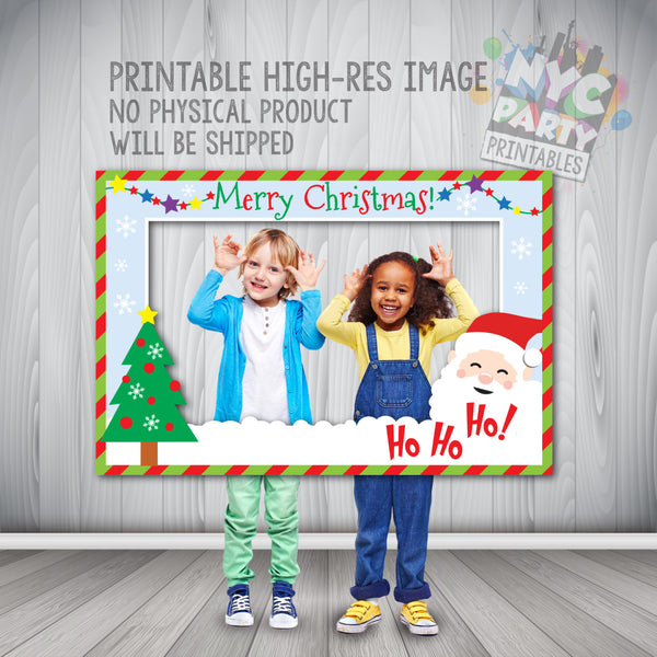 Christmas Photo Booth Frame, Holiday Photo Booth, Instant Download Printable