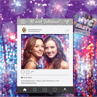 IG Frame,  40th Birthday, 40th Photo Booth. PRINTABLE Photo Booth,  IG Photo Booth Frame