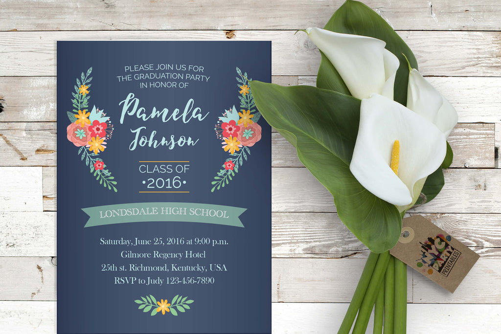 Graduation Invitation, Graduate, High School, College, Graduate School