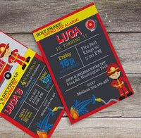 Firefighter Birthday party, Fire truck birthday, fire fighter, firefighter invitation, fire truck birthday decorations - NYC PARTY PRINTABLES