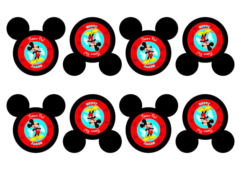 Mickey Mouse Party Favor Tags, Personalized Printable Mickey Mouse Birthday Party favor tags gift tags