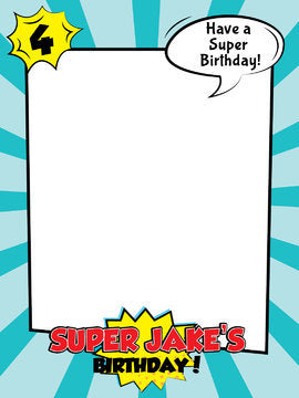 picture relating to Superhero Printable referred to as Superhero Bash, Superhero Birthday, Superhero Birthday Occasion PhotoBooth Body, Superhero Printable