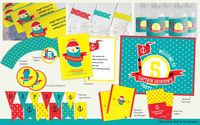 Pirate Themed Birthday Party Pack - NYC PARTY PRINTABLES