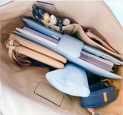 Use a KEYPER to organize in your larger bag. Keep your keys handy and attach your bag if you need to.
