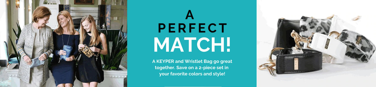 Game. Set. Match. A KEYPIT Set is your clutch solution: a key purse and wristlet all in one.