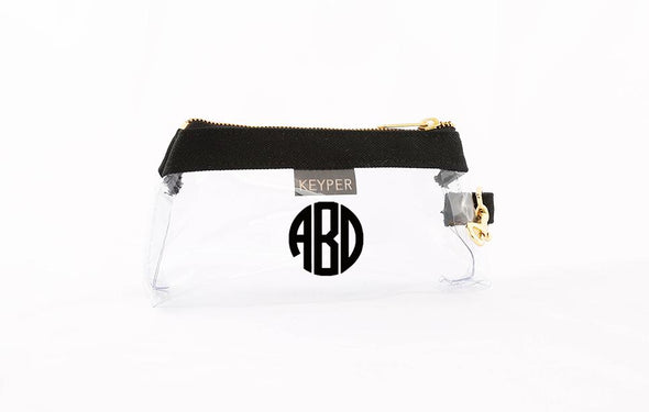 Black Classic Canvas CLEAR IT BAG with monogram