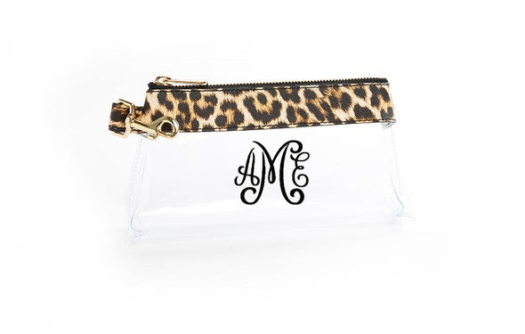 Classic Leopard Signature CLEAR IT BAG with monogram