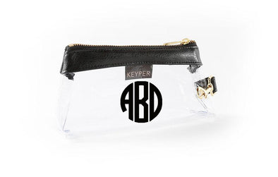 Classic Black Signature CLEAR IT BAG with monogram