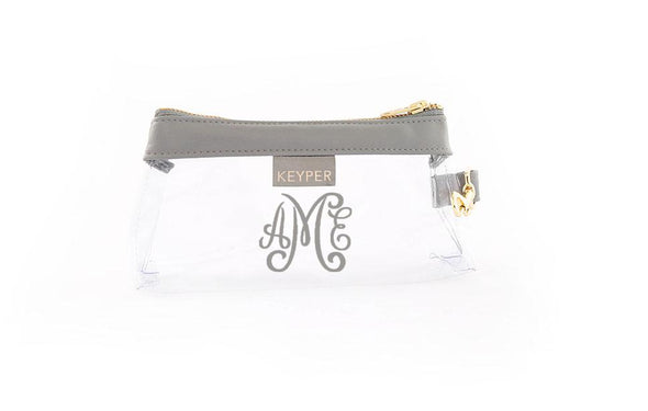 Cool Grey Signature CLEAR IT BAG with monogram