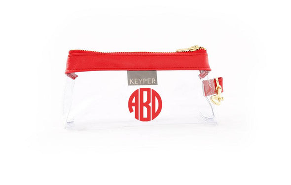 Perfect Red Signature CLEAR IT BAG with monogram