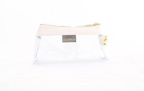 Frost White Signature CLEAR IT BAG with monogram