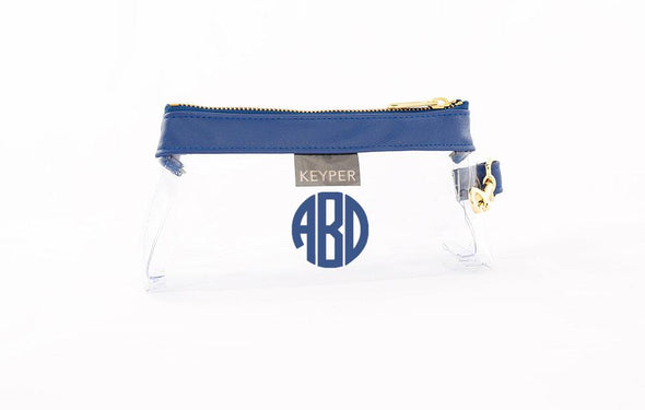 Royal Blue Signature CLEAR IT BAG with monogram