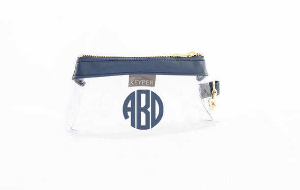 True Navy Signature CLEAR IT BAG with monogram
