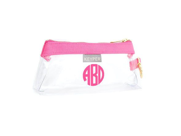 Pale Pink Classic Canvas CLEAR IT BAG with monogram