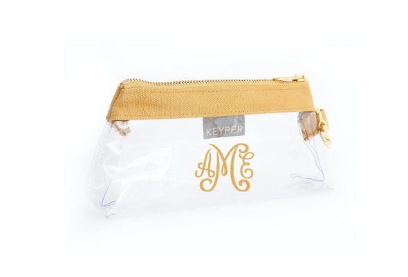 Beige Canvas CLEAR IT BAG with monogram - on backorder until July 15