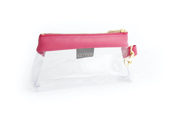 Bright Pink CLEAR IT BAG - Signature Trim
