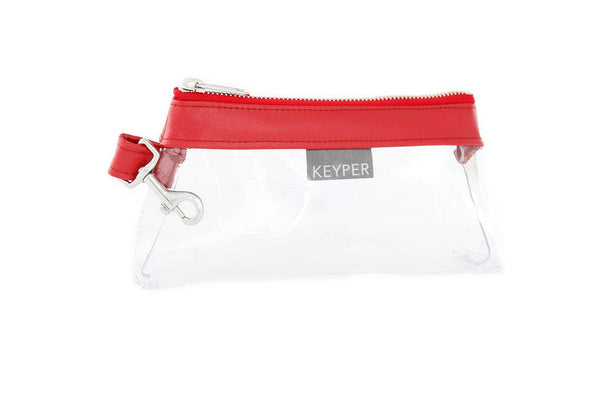 Perfect Red CLEAR IT BAG • Pouch  - Signature Trim