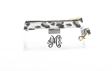 Snow Leopard Signature CLEAR IT BAG with monogram