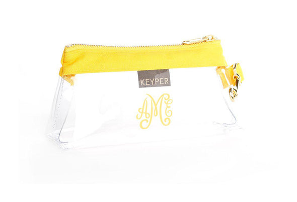 Sunshine Classic Canvas CLEAR IT BAG with monogram